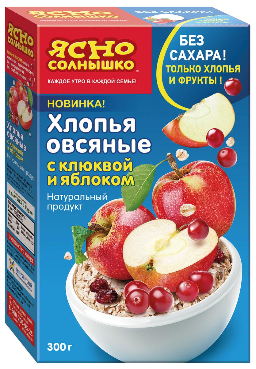 Ясно Солнышко Хлопья овсяные c клюквой и яблоком, 300 г essence d715 320