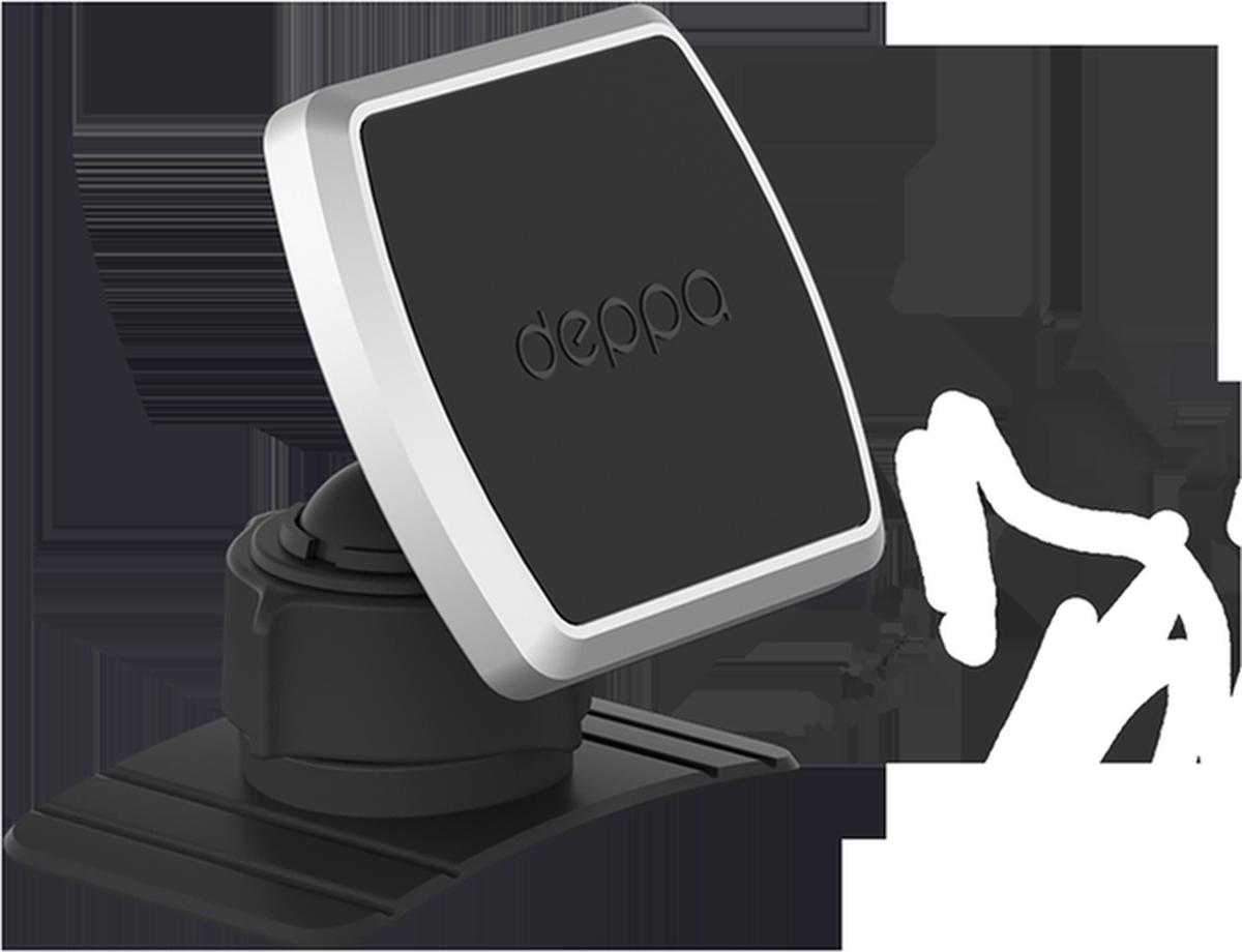Deppa Mage Mount, Black автомобильный держатель для смартфонов55152Легкий и безопасный способ крепления вашего смартфона к различным плоскостямМатериал: ABS-пластик Габаритные размеры: 48 х 54 х 45 мм Размер металлических пластин: 49 х 34 мм Масса держателя: 36 г. Особенности: Четыре неодимовых магнита обеспечивают надежное крепление смартфона во время поездки (толстые чехлы могут влиять на силу притяжения пластины к магнитам). Настраиваемый угол наклона для комфортного и безопасного вождения. Клейкая 3М основа надежно крепится практически к любой поверхности. Комплект: Магнитный держатель - 1 шт.; Самоклеящаяся металлическая пластина - 1 шт. Совместимость - смартфоны и цифровые устройства массой до 300 гр