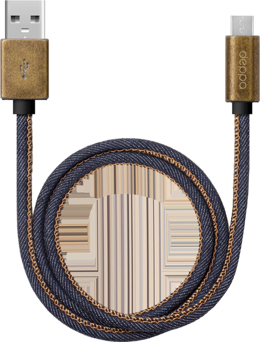 Deppa Jeans дата-кабель USB-microUSB, Blue (1,2 м)72276Кабель Deppa Jeans предназначен для передачи данных между персональными компьютерами и смартфонами, планшетными компьютерами и другими цифровыми устройствами с разъемом microUSB. Кроме того, его можно подключить к адаптеру питания USB, чтобы зарядить устройство от розетки.Ток нагрузки: 2.4 А