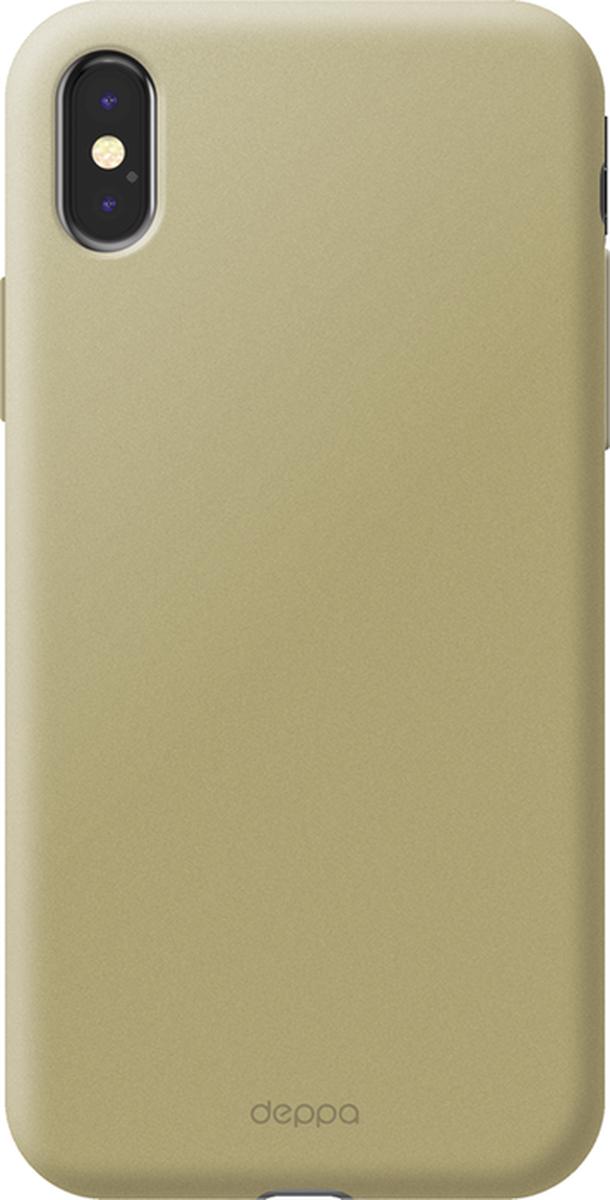 Deppa Air Case чехол для Apple iPhone X, Gold83322Чехол Deppa Air Case для Apple iPhone Х - случай редкого сочетания яркости и чувства меры. Это стильная и элегантная деталь вашего образа, которая всегда обращает на себя внимание среди множества вещей. Благодаря покрытию soft touch чехол невероятно приятен на ощупь, поэтому смартфон не хочется выпускать из рук. Ультратонкий чехол (толщиной 1 мм) повторяет контуры самого девайса, при этом готов принимать на себя удары - последствия непрерывного ритма городской жизни.
