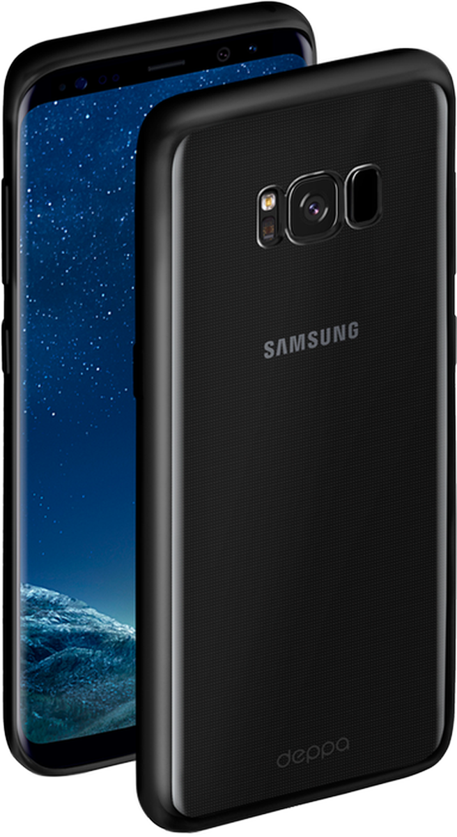 Deppa Gel Plus чехол для Samsung Galaxy S8+, Black85308Чехол Deppa Gel Plus предназначен для защиты корпуса Samsung Galaxy S8+ от механических повреждений и царапин в процессе эксплуатации. Стильная рамка с матовым покрытием придает кейсу Gel Plus особую строгость, и в то же время удачно подчеркивает контуры устройства.Плотный высокотехнологичный TPU (силикон) производства Bayer в разы повышает защитные функции чехла. Кейс эластичен, устойчив к изломам, не запотевает и не желтеет даже при длительной эксплуатации.Кейс надежно защищает Samsung Galaxy S8+ со всех сторон и имеет все необходимые, тщательно выверенные отверстия для доступа к функциональным портам, разъемам и кнопкам смартфона. Вы можете легко зарядить устройство, не снимая чехол.