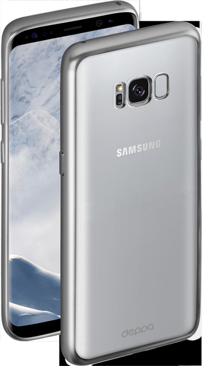 Deppa Gel Plus чехол для Samsung Galaxy S8+, Silver85309Чехол Deppa Gel Plus предназначен для защиты корпуса Samsung Galaxy S8+ от механических повреждений и царапин в процессе эксплуатации. Стильная рамка с матовым покрытием придает кейсу Gel Plus особую строгость, и в то же время удачно подчеркивает контуры устройства.Плотный высокотехнологичный TPU (силикон) производства Bayer в разы повышает защитные функции чехла. Кейс эластичен, устойчив к изломам, не запотевает и не желтеет даже при длительной эксплуатации.Кейс надежно защищает Samsung Galaxy S8+ со всех сторон и имеет все необходимые, тщательно выверенные отверстия для доступа к функциональным портам, разъемам и кнопкам смартфона. Вы можете легко зарядить устройство, не снимая чехол.