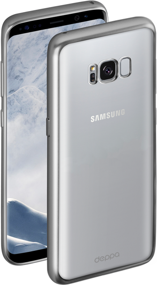 Deppa Gel Plus чехол для Samsung Galaxy S8+, Silver оригинальный samsung galaxy s8 s8 plus nillkin 3d ap pro полноэкранный экранный протектор экрана