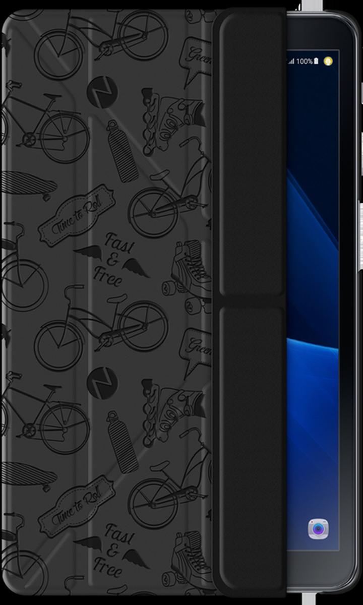 Deppa Wallet Onzo чехол для Samsung Galaxy Tab A 10.1, Dark Gray