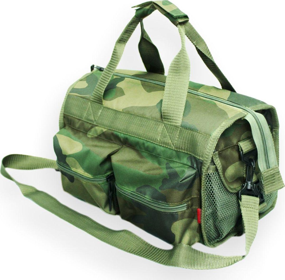 Сумка рыбака Tplus 600, цвет: нато, 36 x 20 x 20 см сумка рыбака tplus 600 цвет олива 36 x 20 x 20 см