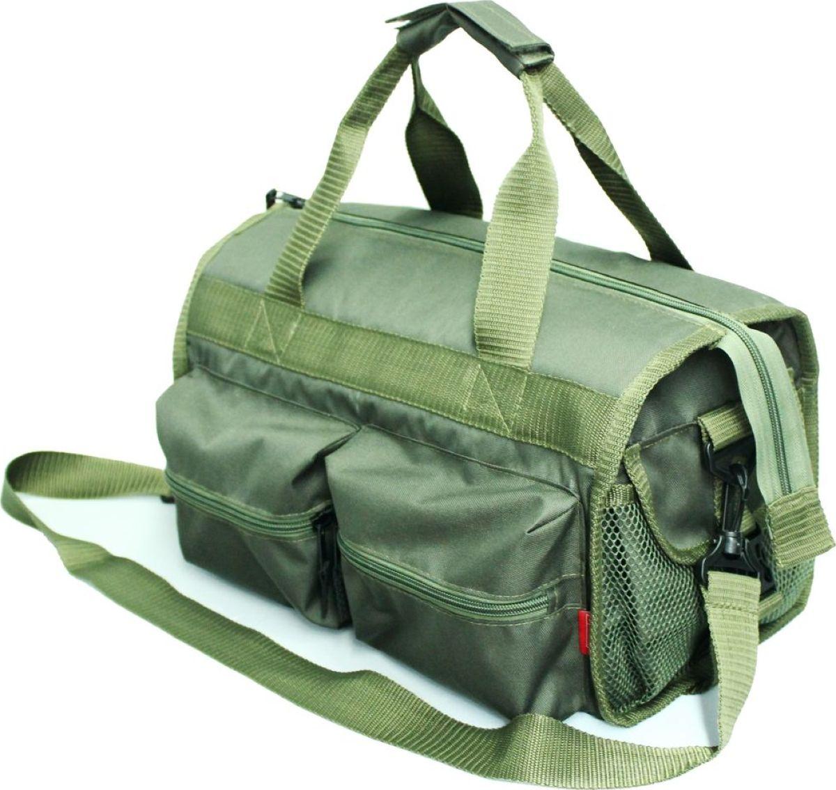 Сумка рыбака Tplus 600, цвет: олива, 36 x 20 x 20 см сумка рыбака tplus 600 цвет олива 36 x 20 x 20 см