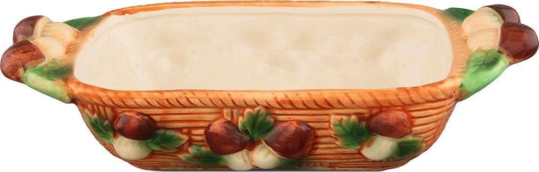 Блюдо Elan Gallery Грибы, 24 х 12,5 х 5 см110778Блюдо-шубница - это прекрасный вариант как для запекания, так и для последующей сервировки. Размер этого блюда подходит и для подачи горячего, и для приготовления и хранения слоеных салатов. Объем 500 мл.