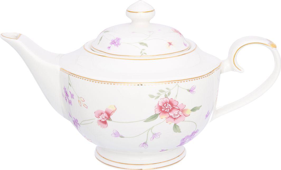 """Изысканный заварочный чайник Elan Gallery """"Диана"""", выполненный из фарфора, украсит сервировку стола к чаепитию. Благодаря красивому утонченному дизайну и качеству исполнения он станет хорошим подарком друзьям и близким."""
