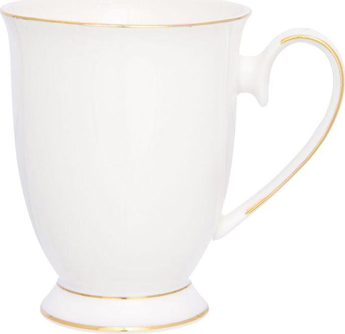 Кружка Elan Gallery Снежана, цвет: белый, золотой, 300 мл730691Великолепная кружка Снежана не оставит равнодушным ни одного из ваших гостей и станет прекрасным выбором для подарка. Оригинальный дизайн и оформление подарят вам отличное настроение. Изделие упаковано в подарочную коробку.Объем: 300 мл.