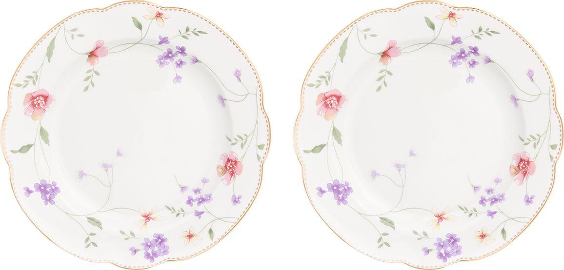 """Набор из двух тарелок Elan Gallery """"Диана"""" украсит современный интерьер и станет отличным подарком для любителей стильных вещей. Изделия выполнены из фарфора."""