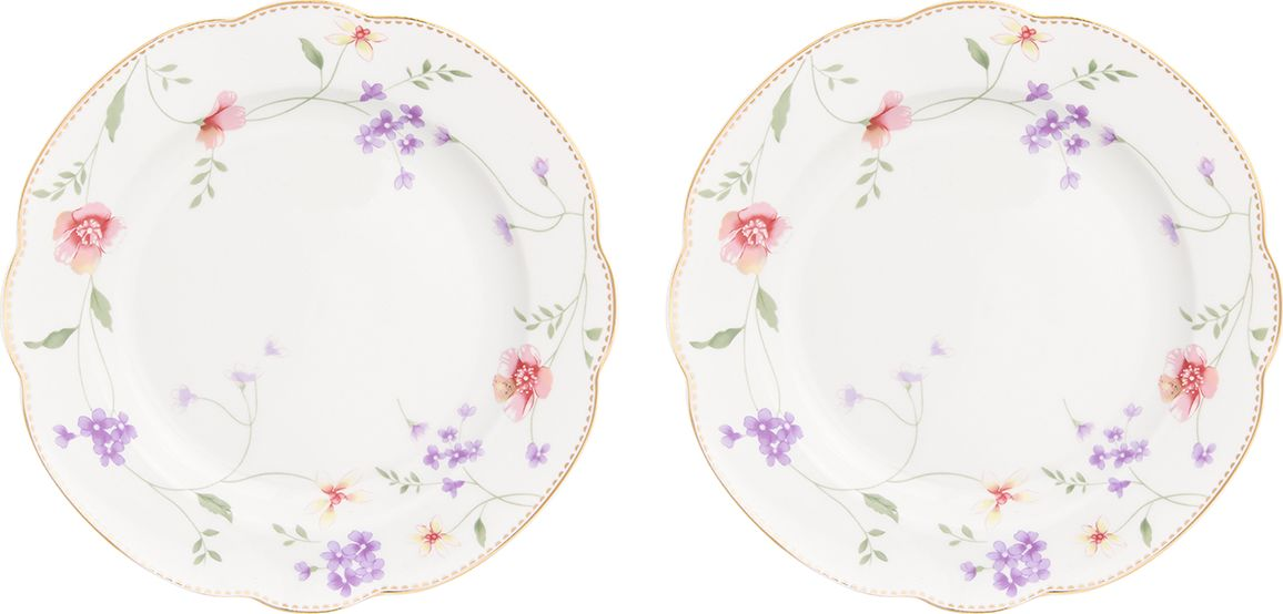 Набор тарелок для закуски Elan Gallery Диана, 2 шт