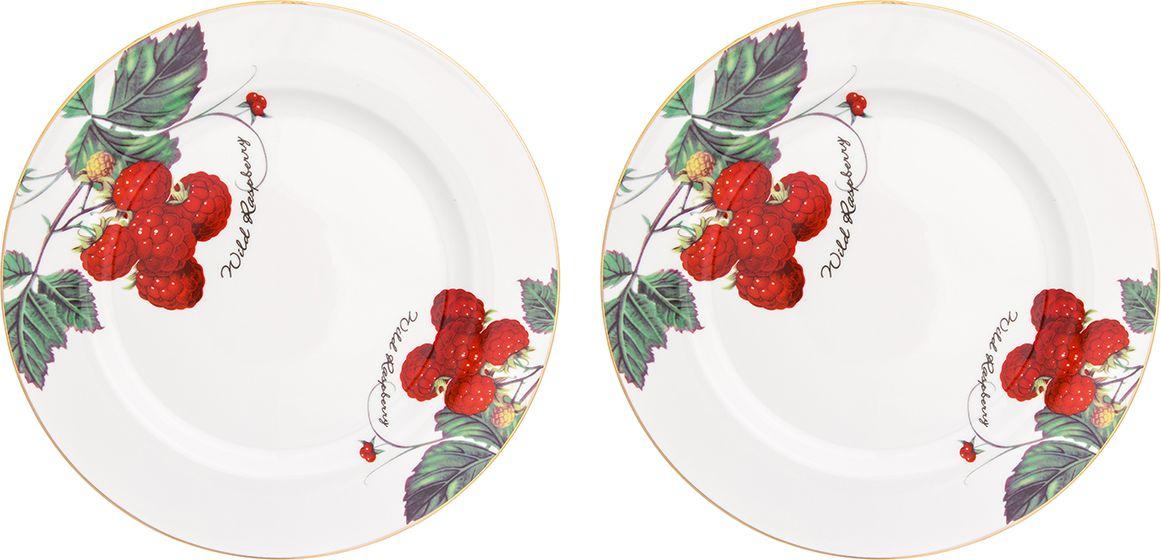 Набор обеденных тарелок Elan Gallery Ягода-малина, 2 предмета730703Набор из двух тарелок Elan Gallery Ягода-малина украсит современный интерьер и станет отличным подарком для любителей стильных вещей. Изделия выполнены из фарфора.
