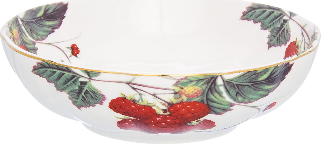 """Великолепный салатник Elan Gallery """"Ягода-малина"""", выполненный из фарфора, идеален для сервировки салатов.  Вместительный салатник станет украшением для ваших блюд.  Соберите всю коллекцию предметов сервировки """"Ягода-малина"""" и ваши гости будут в восторге!  Изделие имеет подарочную упаковку, идеальный выбор для подарка."""