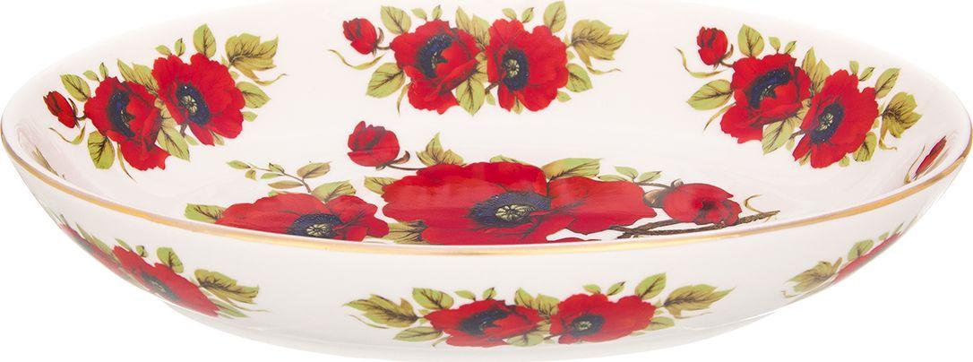 Блюдо Elan Gallery Маки, 22 х 16 х 4 см740471Блюдо для слоеных салатов 22*16*4 см. 600 мл. Elan Gallery Маки