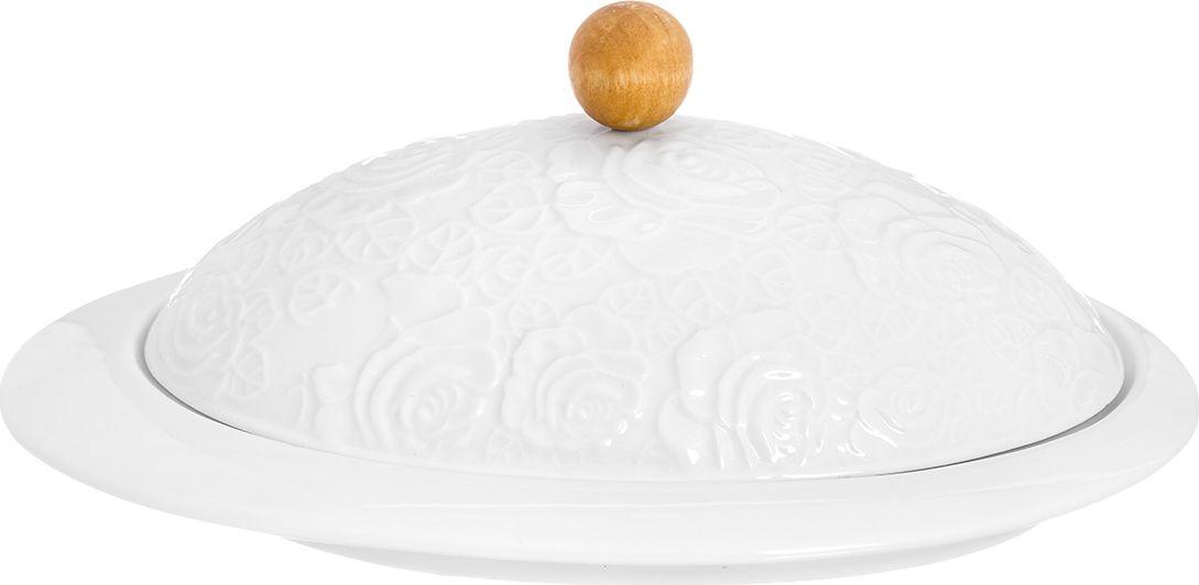 Масленка Elan Gallery Белые розы, 20 х 14 х 8,5 см860042Классическая масленка может использоваться и как паштетница. Крышка сохранит продукты от заветривания и сохранит свежесть Ваших продуктов на долгое время. Размер 16,5х12х8,5 см.