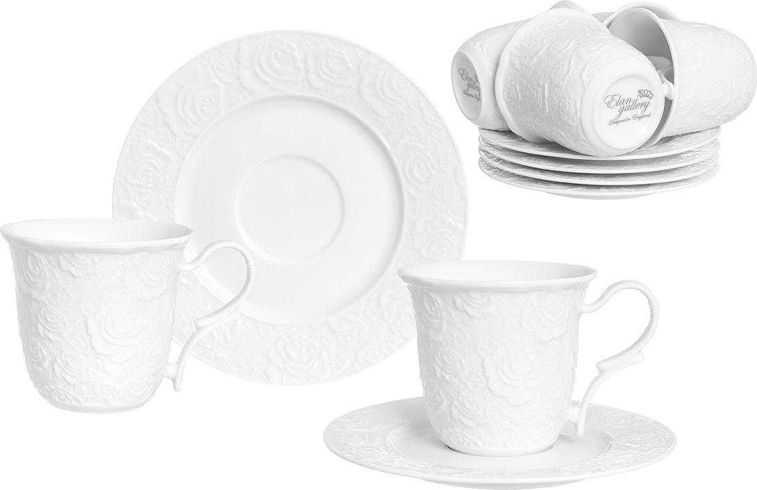 """Набор чайный Elan Gallery """"Белые розы"""", 12 предметов"""