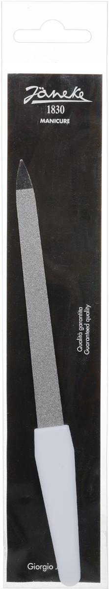 Janeke Пилка для ногтей, цвет: белый, серебристый. MP112 инструмент для маникюра janeke пилочка для ногтей стеклянная горошек janeke