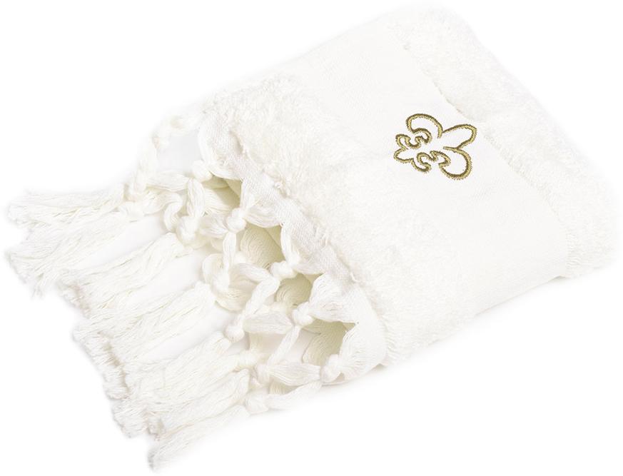 Полотенце для ванной Wess Aufollien Provence, цвет: кремовый, 30 х 50 смL01-03Создать завершенный интерьер ванной комнаты в стиле прованс позволяют полотенца с изящными кисточками и декоративными элементами в виде королевских лилий. Особенностью полотенец является наличие лейбл-петельки и со вкусом выполненная подарочная брендированная упаковка. Полотенца надлежащего качества возврату и обмену не подлежат.