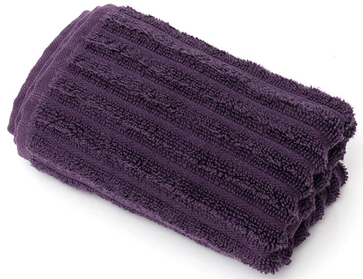 Полотенце для ванной Wess Meridiano, цвет: фиолетовый, 30 х 50 смL01-05Рельефный жаккардовый рисунок в виде полосок придется по вкусу ценителям современного дизайна. Произведено из индийского длинноволокнистого хлопка премиум-сортов. Особая пряжа обладает отличными водопоглощающими свойствами, гипоаллергенностью, мягкостью и объемом.
