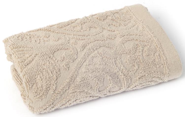 Полотенце для ванной Wess Zelidzh, цвет: бежевый, 30 х 50 смL01-09Жаккардовое полотенце с восточным экзотическим узором перенесет в атмосферу восточной сказки. Произведено из индийского длинноволокнистого хлопка премиум-сортов. Особая пряжа обладает отличными водопоглощающими свойствами, гипоаллергенностью, мягкостью и объемом.