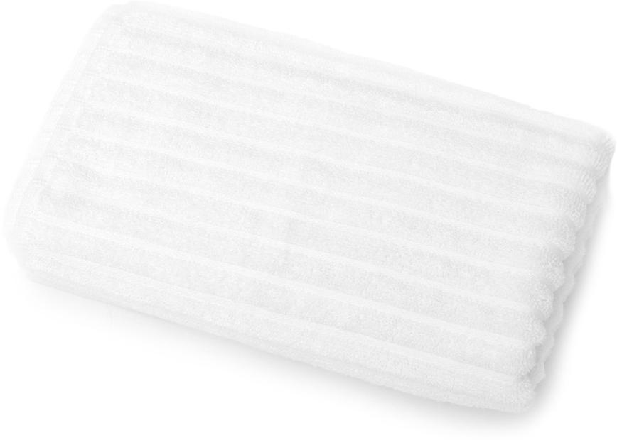 Полотенце для ванной Wess Meridiano, цвет: белый, 50 х 80 смL02-04Рельефный жаккардовый рисунок в виде полосок придется по вкусу ценителям современного дизайна. Произведено из индийского длинноволокнистого хлопка премиум-сортов. Особая пряжа обладает отличными водопоглощающими свойствами, гипоаллергенностью, мягкостью и объемом.