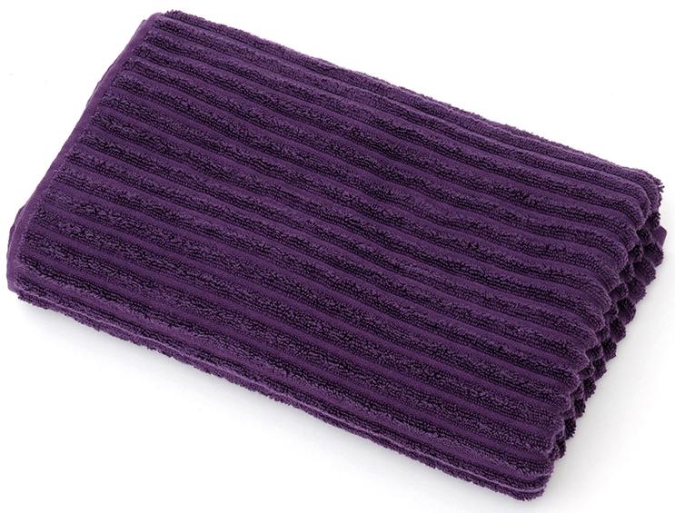 Полотенце для ванной Wess Meridiano, цвет: фиолетовый, 70 х 140 смL03-05Рельефный жаккардовый рисунок в виде полосок придется по вкусу ценителям современного дизайна. Произведено из индийского длинноволокнистого хлопка премиум-сортов. Особая пряжа обладает отличными водопоглощающими свойствами, гипоаллергенностью, мягкостью и объемом.Плотность 550 г/кв.м. Полотенца надлежащего качества возврату и обмену не подлежат.