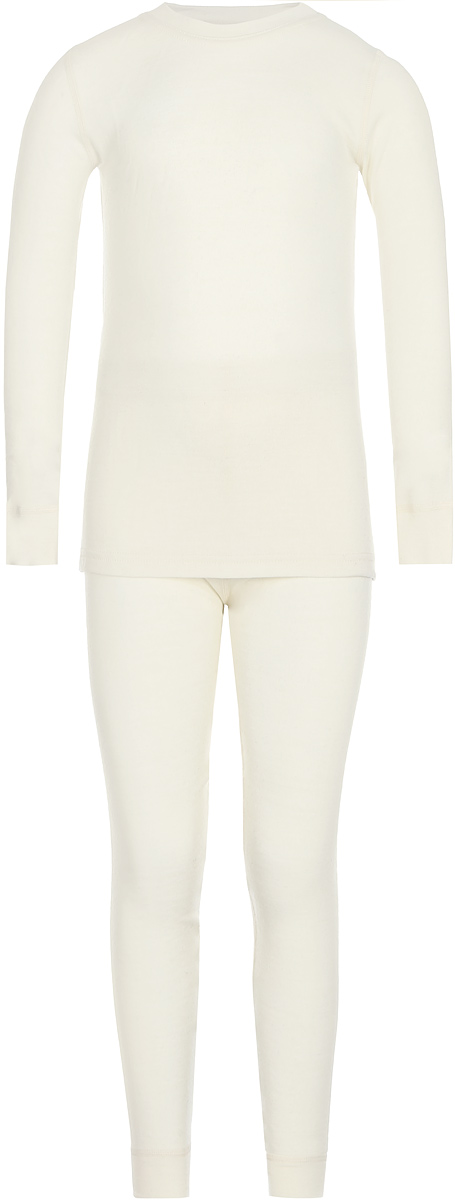 Комплект термобелья детский Dr. Wool: лонгслив, брюки, цвет: молочный. DWKL 30102. Размер 92/98DWKL 30102Комплект термобелья Dr. Wool, состоящий из лонгслива и брюк незаменим в холодную погоду. Для еще большего комфорта резинка, манжеты и швы сделаны мягкими, поэтому не вызывают раздражения кожи. Изделие облегает, поэтому его можно носить в качестве первого слоя. Переохлаждение и перегрев вас не побеспокоят благодаря воздушной структуре волокна. Среди качеств волокон полотна отмечается гигроскопичность.