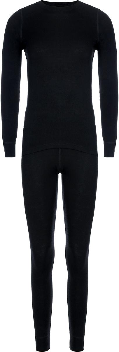 Комплект термобелья женский Dr. Wool: лонгслив, брюки, цвет: черный. DWL 20102. Размер 50/52DWL 20102Комплект женского тремобелья Dr. Wool станет надежной защитой прохладной осенью и холодной зимой. В то же время это универсальный комплект на любой сезон, поэтому он защитит и от перегрева. Мягкий материал облегает кожу, не вызывая раздражения и не ограничивая свободу движений. Комплект термобелья можно носить под любой одеждой – он настолько тонкий и легкий, что его не будет заметно. Волокна шерсти обладают гигроскопичностью, нейтрализуют неприятный запах и предотвращают размножение бактерий.