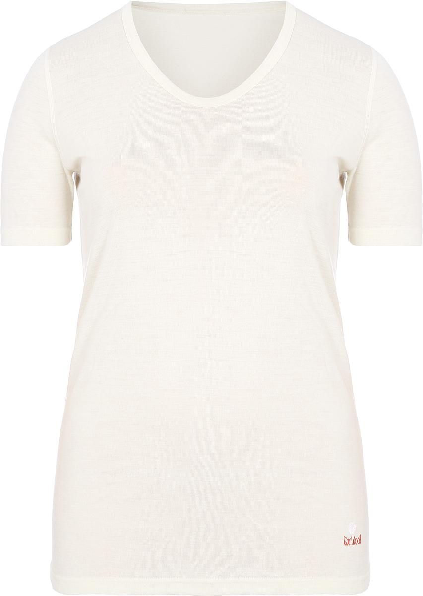Термобелье футболка женская Dr. Wool, цвет: молочный. DWULB 203. Размер 56/58