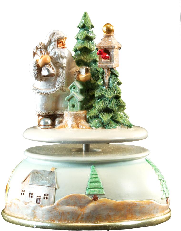 Сувенир новогодний Erich Krause Праздник на пороге, музыкальный, 14 см44250Музыкальная шкатулка из полирезины представляет собой новогоднюю композицию с Дедом Морозом. На дне сувенира расположен ключ для завода механизма. При повороте ключа верхняя часть сувенира начнет кружиться вокруг своей оси, сопровождаемая приятной музыкой.Новогодние украшения всегда несут в себе волшебство и красоту праздника. Создайте в своем доме атмосферу тепла, веселья и радости, украшая его всей семьей.