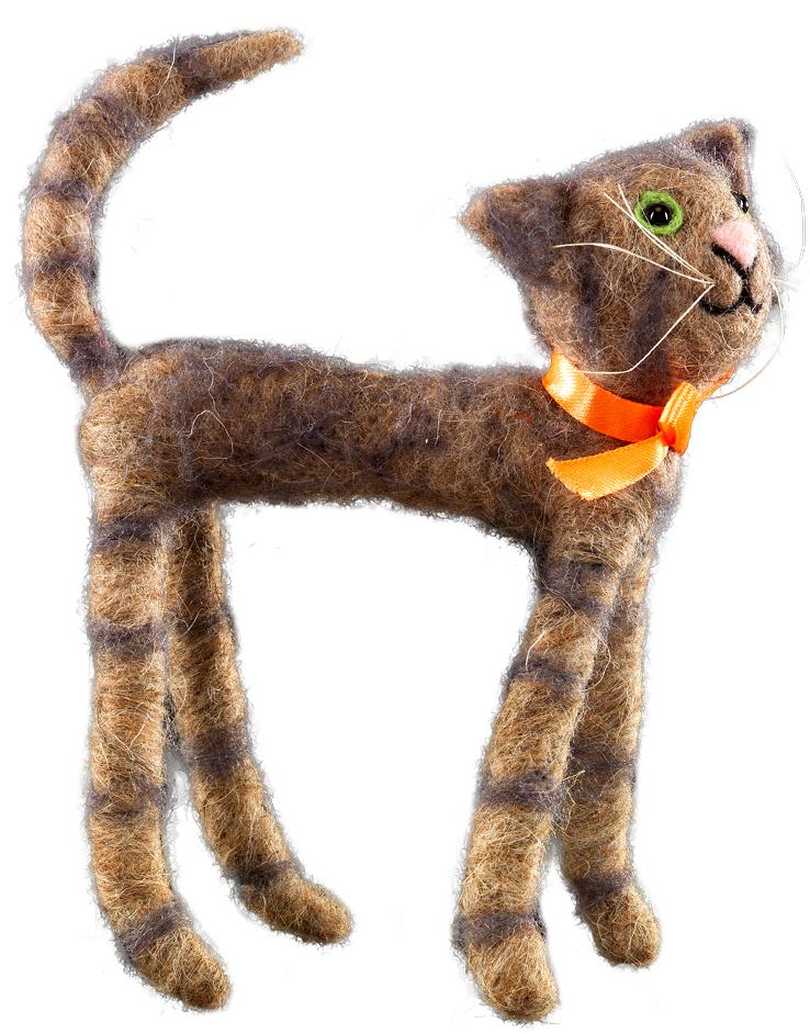 Сувенир новогодний Erich Krause Кот-гуляка, 20 см43870Сувениры из валяной шерсти являются модным Трендом сезона. Длинноногий серый кот поднимает настроение только отдним своим оптимистичным видом. Очень стильный сувенир. Упаковка - полибэг.