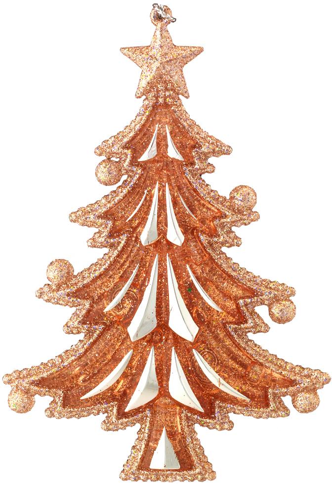 Украшение для интерьера новогоднее Erich Krause Елочка, 12,5 см43658Елочка, выполненная в благородном цвете розового золота, имеет красивую рельефную текстуру и декорирована сверкающими блестками. Верхушка елки украшена звездой, а на концах ветвей елки уютно расположились миниатюрные шарики. Упаковка - полибэг.