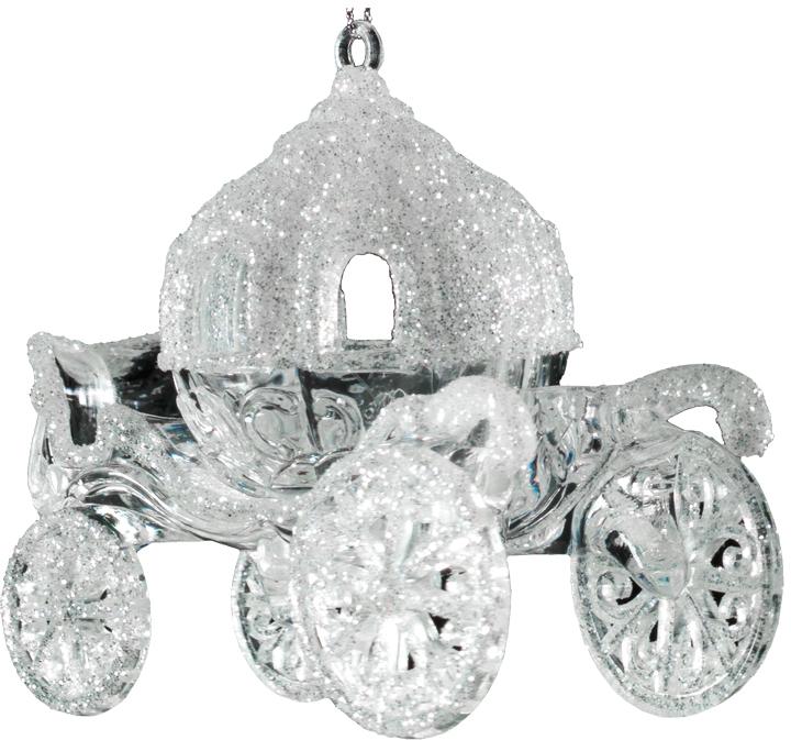 Украшение для интерьера новогоднее Erich Krause Карета белая, 11,5 см43462Карета, выполненная из прозрачного пластика и декорированная белыми блестками, кажется хрустальной. Великолепно смотрится на елке и просто в качестве сувенира. Добавит таинственности и волшебства в игровое пространство Малыша. Упаковка - полибэг.