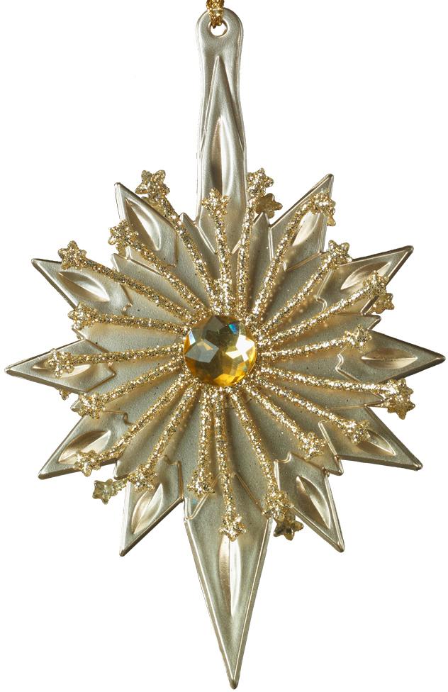 Украшение для интерьера новогоднее Erich Krause Золотая льдинка, 15 см43451Украшение, выполненное в теплом золотом цвете, отличается необычной двусторонней формой. Благодаря этому лучики украшения сверкают со всех сторон. Новогодние украшения всегда несут в себе волшебство и красоту праздника. Создайте в своем доме атмосферу тепла, веселья и радости, украшая его всей семьей.