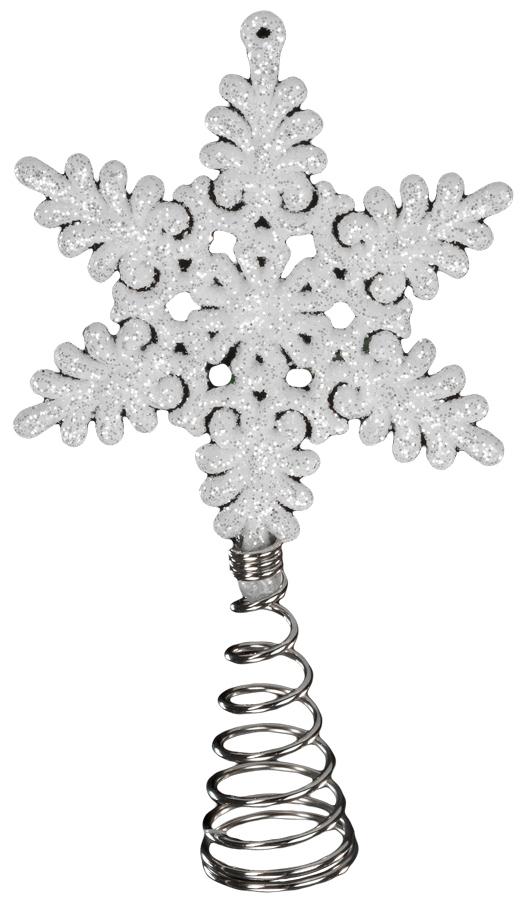 Украшение для интерьера новогоднее Erich Krause Верхушка Снежинка белая, 13 см43420Верхушка великолепно подойдет для елки небольшого размера. Снежинка выполнена из пластика и имеет металлическую пружину, позволяющую прикрепить верхушку максимально аккуратно, но надежно. Упаковка - полибэг.