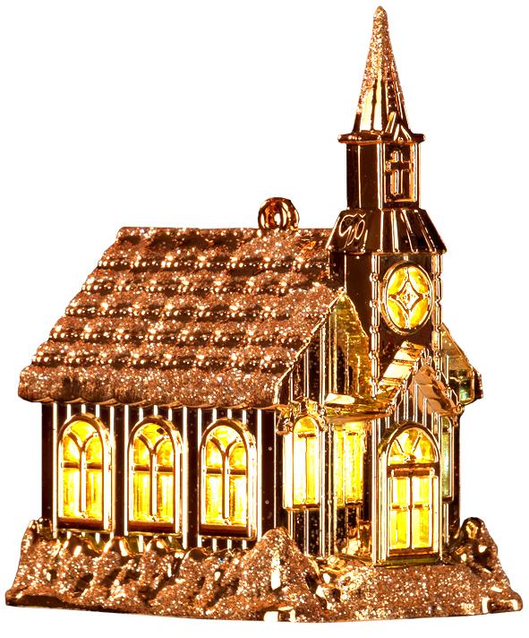Украшение для интерьера новогоднее Erich Krause Уютный дом золотой, 10,5 см35982Теплый свет, исходящий из миниатюрных окон домика, восхищает своей таинственностью. Изделие многофункционально: домик достойно украсит елку, станет отличным сувениром или подарком для ребенка. Батарейка входит в комплект, переключатель находится на дне изделия. Новогодние украшения всегда несут в себе волшебство и красоту праздника. Создайте в своем доме атмосферу тепла, веселья и радости, украшая его всей семьей.