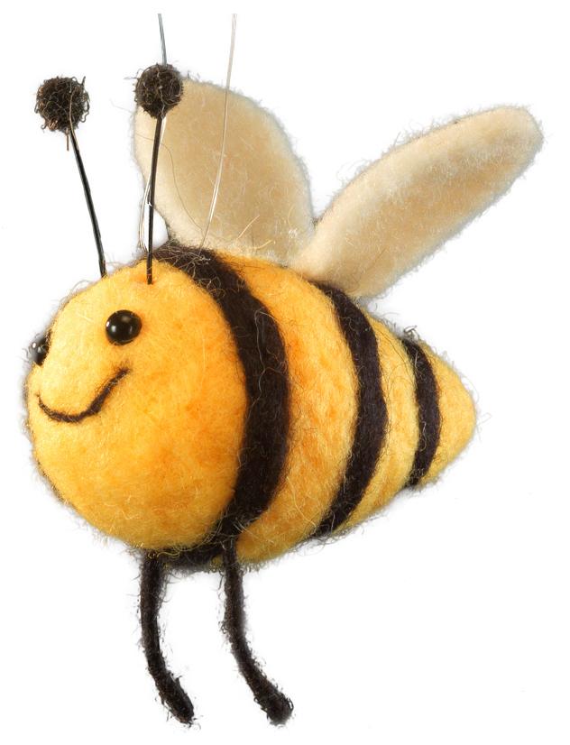 Украшение для интерьера новогоднее Erich Krause Пчелка Майя, 10 см42906Сувениры из валяной шерсти являются модным Трендом сезона. Веселая пчелка оснащена веревочкой для подвешивания, но также будет устойчиво и убедительно смотреться на рабочем столе. Очень стильный сувенир. Упаковка - полибэг.