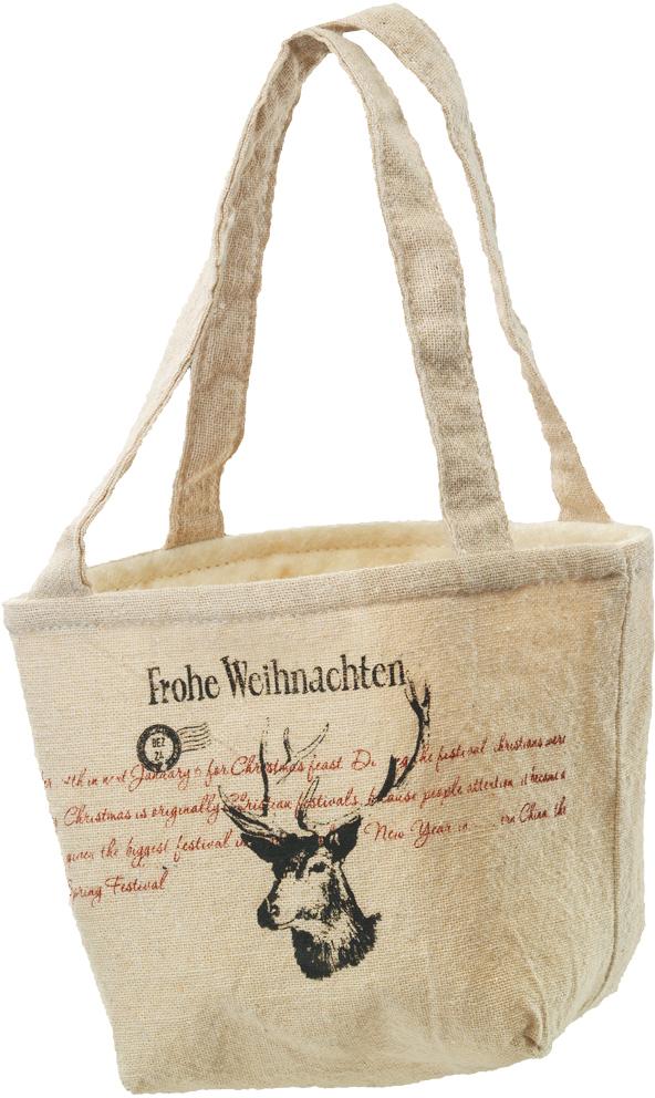 Сумочка для подарков Erich Krause Олень, 22 см41285Сумочка из холщовой ткани с двумя ручками является оригинальной упаковкой для небольших подарков. Новогодние товары всегда несут в себе волшебство и красоту праздника.