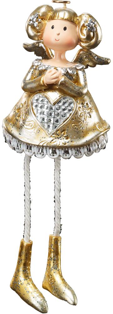 Украшение для интерьера новогоднее Erich Krause Золотой ангелок, 16 см41220Ангел в золотом наряде выполнен из качественной полирезины. Подол платья обрамлен кружевом. Ножки украшения выполнены из веревочек, что позволяет посадить его в любое место. Очень приятный сувенир. Групповая Новогодние украшения всегда несут в себе волшебство и красоту праздника. Создайте в своем доме атмосферу тепла, веселья и радости, украшая его всей семьей.