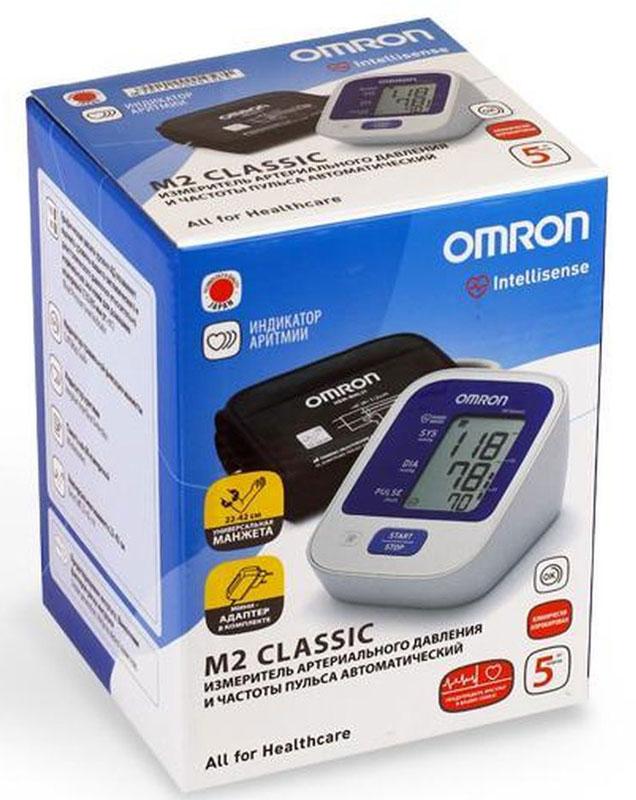 Omron M2 Classic (НЕМ-7122-ALRU) Измеритель артериального давления и частоты пульса автоматический тонометр
