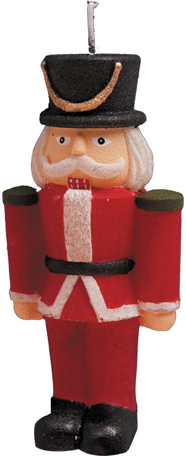 Свеча новогодняя Erich Krause Гусар, 12 см34577Декоративная свеча выполнена в виде гусара. Упаковка - полибэг с подарочной ленточкой.
