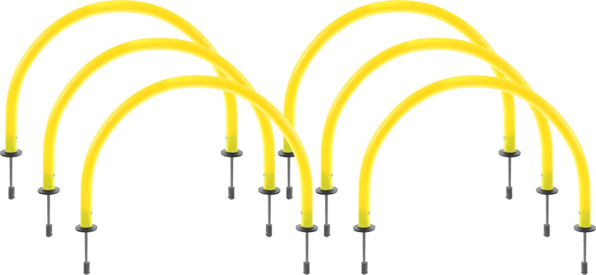Набор рамок для тренировок Mitre, цвет: желтый, 6 шт - Аксессуары для командных видов спорта