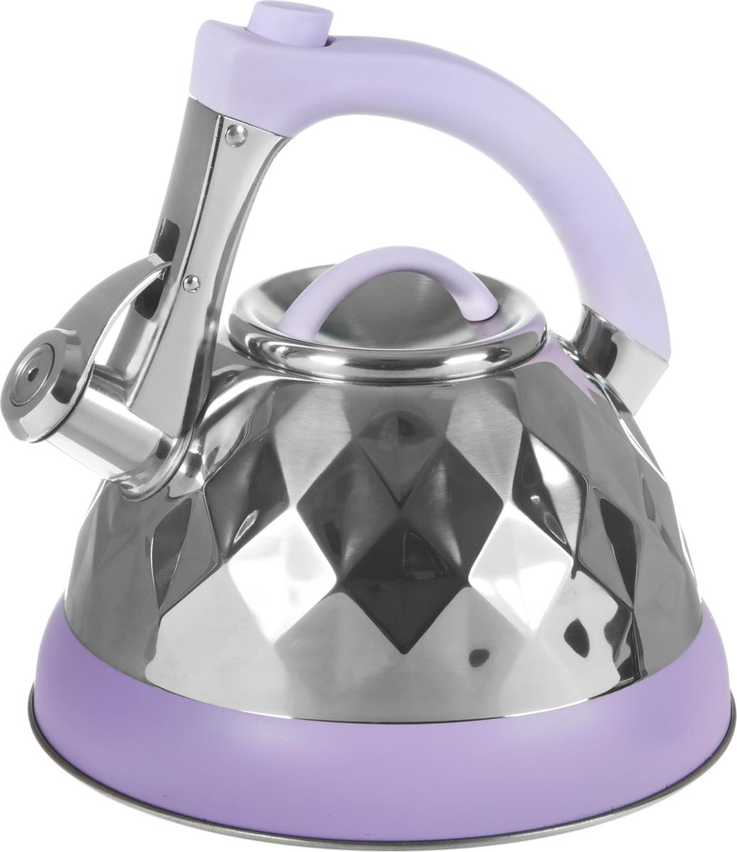 Чайник Bohmann, со свистком, цвет: сиреневый, 3,5 л. BH-8087 чайник bohmann bh 9996 blue