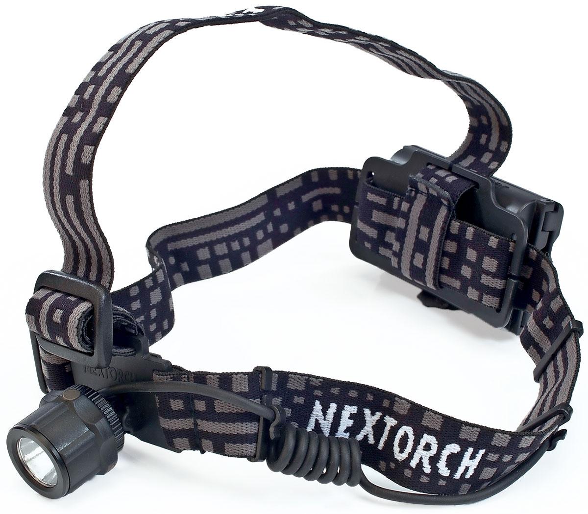 Фонарь налобный Nextorch Viker Star, цвет: черныйViker StarНалобный фонарь светодиодный Nextorch Viker Star до 140 люмен, 3 режимаНалобный фонарь Viker Star- это многофункциональный налобный фонарь. Он может использоваться на пеших и велосипедных прогулках, выездах на природу, при работах по хозяйству и в гараже, при монтажных работах, а так же при чтении книг и многое другое. Фонарь не боится ударов и имеет влагоустойчивый корпус. Ремешки сделаны из материала, который представляет собой смесь высококачественного нейлона и резины, что делает его воздухопроницаемым (дышащим) и удобным. Это позволяет легко и быстро регулировать ремень по обхвату вашей головы. Блок размещения батарей находится сзади. Смена режимов работы фонаря осуществляется поворотом блока свечения. На поворотном кольце имеется индикатор заряда батареи, который загорается только при необходимости замены элементов питания. Блок свечения имеет угол наклона до 90°. Режимы работы:1. Полная яркость 225 люм. 2. Слабое свечение 20 люм. 3. S. O. S. Характеристики:Светодиод:CREE XP-G2 R5. Мощность, люмены: 225 / 20 / S. O. SВремя работы, минуты: 5ч. / 47ч. / -- . Тип батареи: 3 х AA (не поставляются в комплекте). Дистанция: 120 м. Диаметр блока свечения: 30 ммМатериал корпуса: Корпус выполнен из противоударного пластика ABS. Водонепроницаемость: 1м. Ударопрочность: 1м. Вес с упаковкой: 152 гКомплектация: Фонарь. Компания Nextorch уделяет особенное внимание производству инновационных переносных осветительных приборов. Применение самых передовых технологий освещения позволяет использовать максимально яркие источники света, достигая при этом невероятной эффективности и исключительной долговечности элементов питания. Использование материалов аэрокосмических технологий - алюминия марки 6061-T6 с жестким анодированным покрытием Mil-Spec III для корпуса и элементов управления, придает фонарям Nextorch прочность, легкость, долговечность и эргономичность.