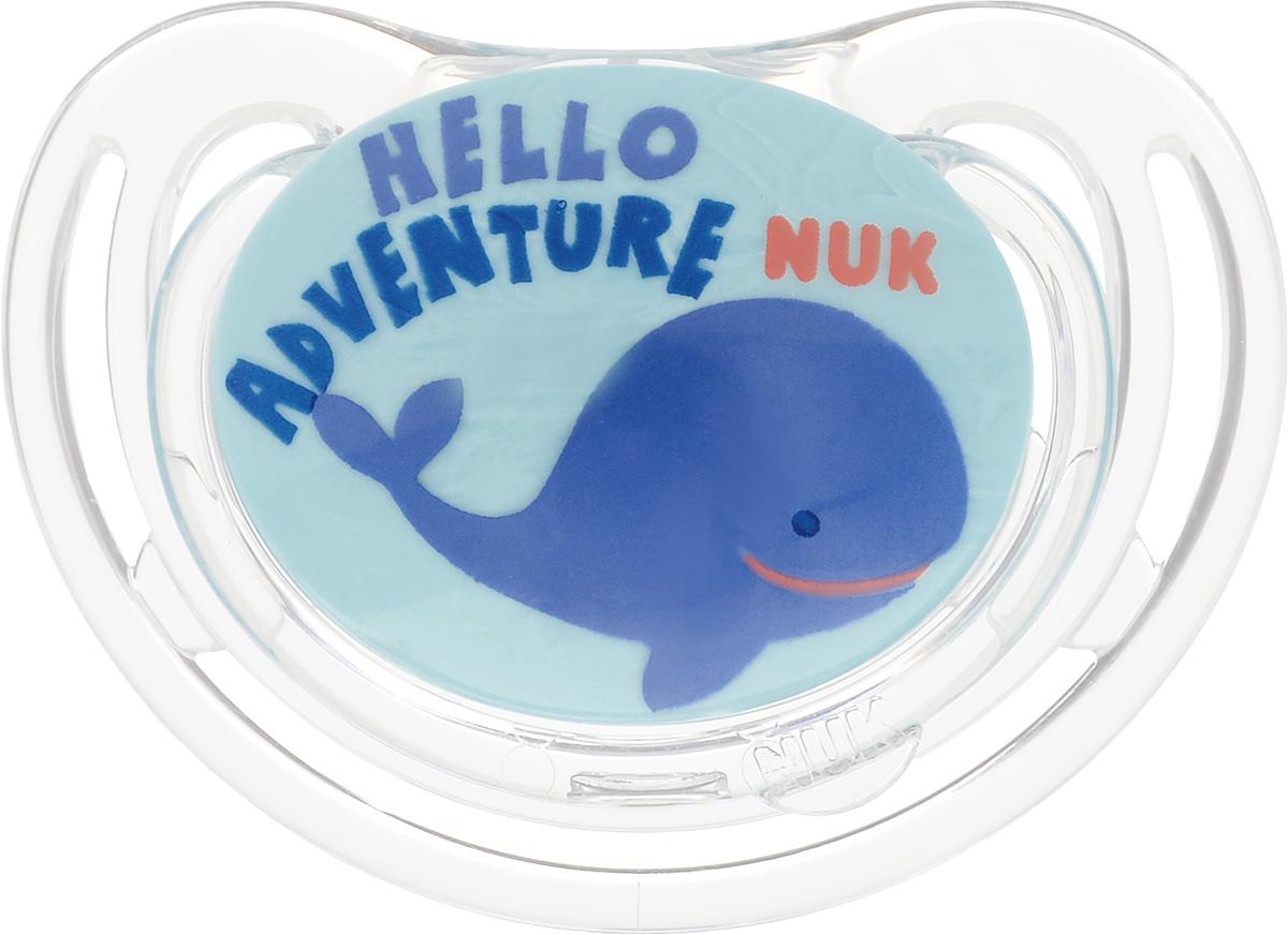 NUK Пустышка силиконовая ортодонтическая для сна Freestyle Кит от 18 до 36 месяцев цвет бирюзовый соска пустышка nuk night & day от 18 до 36 месяцев цвет салатовый синий