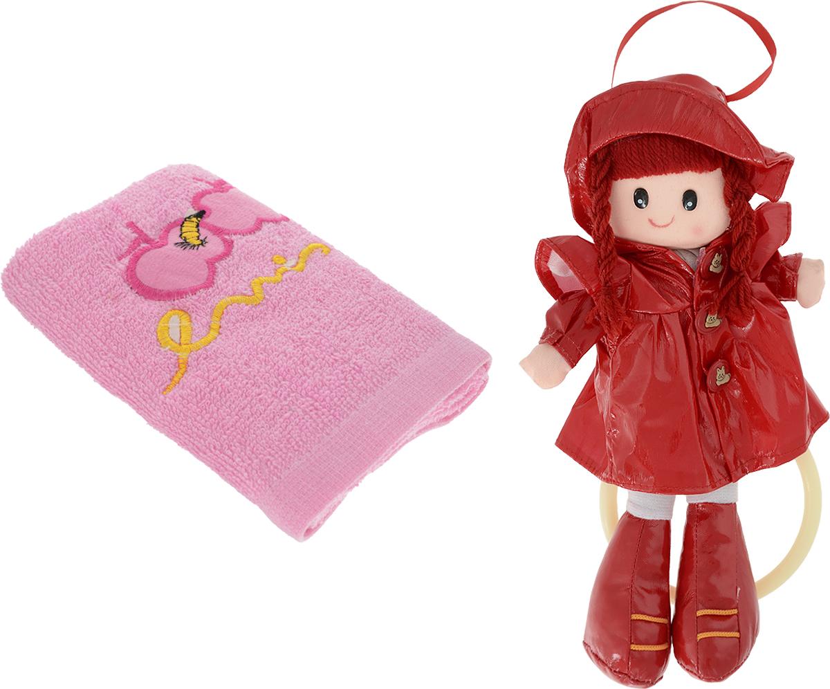 Sima-land Мягкая кукла Аня с держателем и полотенцем цвет красный кармашки на стену sima land люблю школу цвет красный желтый коричневый 5 шт