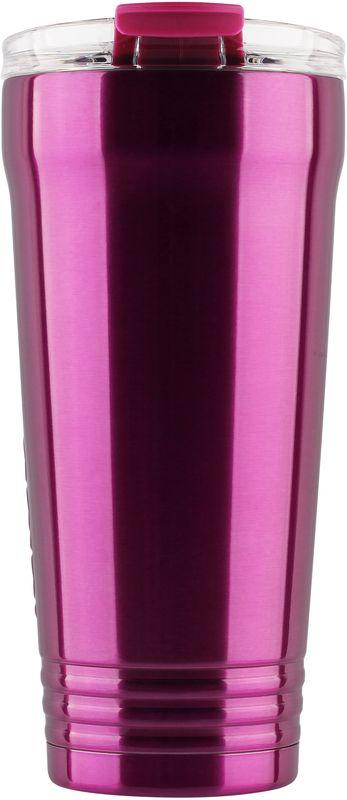 Кружка-термос Igloo Logan, с вакуумной изоляцией, цвет: фиолетовый, 650 мл170374Большая герметичная кружка-термос выполнена из нержавеющей стали с вакуумной изоляцией и стойкой к ударам крышкой, изготовленной из пластика. С оригинальной термокружкой вы сможете наслаждаться горячими напитками дома, в офисе, в машине или даже в поезде.