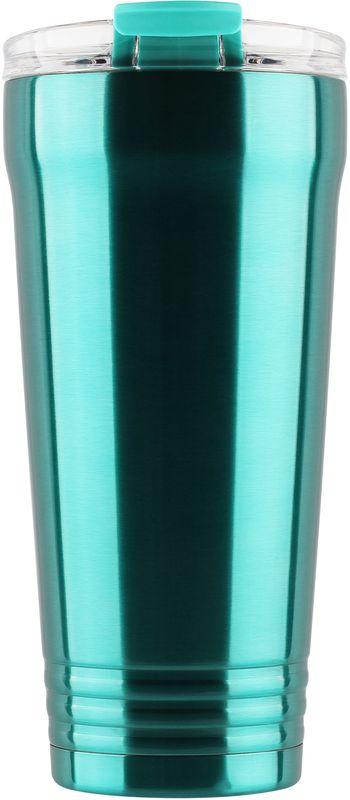 Кружка-термос Igloo Logan, с вакуумной изоляцией, цвет: зеленый, 650 мл170375Большая герметичная кружка-термос выполнена из нержавеющей стали с вакуумной изоляцией и стойкой к ударам крышкой, изготовленной из пластика. С оригинальной термокружкой вы сможете наслаждаться горячими напитками дома, в офисе, в машине или даже в поезде.