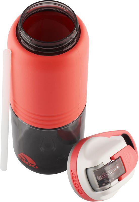 Бутылка для воды Igloo Swift, цвет: розовый, 710 мл170385Большая герметичная пластиковая бутылка для воды Igloo Swift обладает высокой прочностью и продуманным функционалом, подходит для ежедневного использования.Оснащена откидным силиконовым поильником, защитной крышкой для гигиеничной эксплуатации и встроенной в крышку петлей для комфортной переноски в руке.Объем: 710 мл.