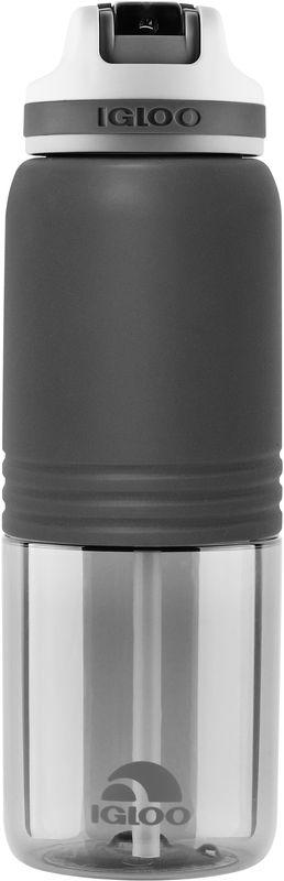 Бутылка для воды Igloo Swift, цвет: черный, 710 млSP02 blueБольшая герметичная пластиковая бутылка для воды Igloo Swift обладает высокой прочностью и продуманным функционалом, подходит для ежедневного использования. Оснащена откидным силиконовым поильником, защитной крышкой для гигиеничной эксплуатации и встроенной в крышку петлей для комфортной переноски в руке. Объем: 710 мл.